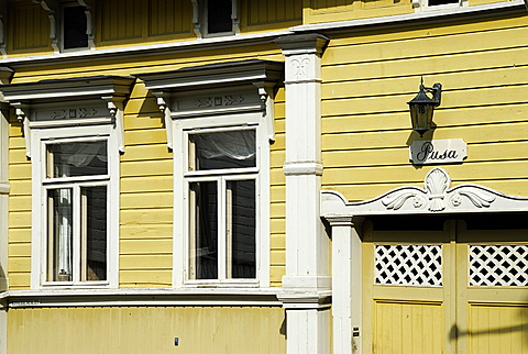 Typical wooden houses in Old Town, Naantali, Finland Proper, Finland, Scandinavia, Europe