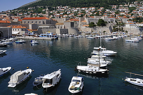 The Old Harbour, Grad old town, Dubrovnik, Dalmatia, Croatia, Europe