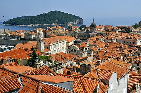 Rooftops, Grad old town, Dubrovnik, Dalmatia, Croatia, Europe