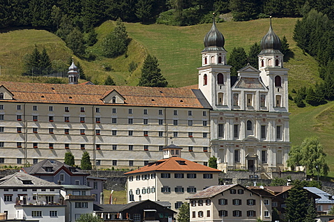 monastery, disentis muster, switzerland
