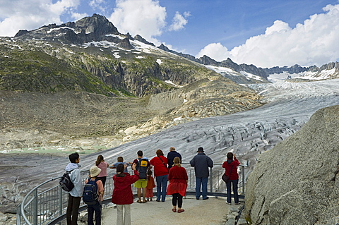rhone glacier, furka pass, switzerland