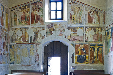 st. sebastian church: frescoes, nembro, italy