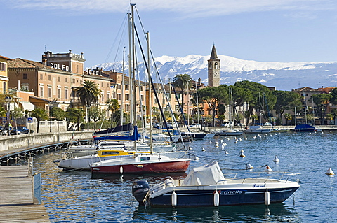 village view, toscolano maderno, italy