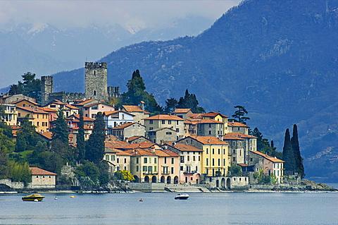 village view, santa maria rezzonico, italy