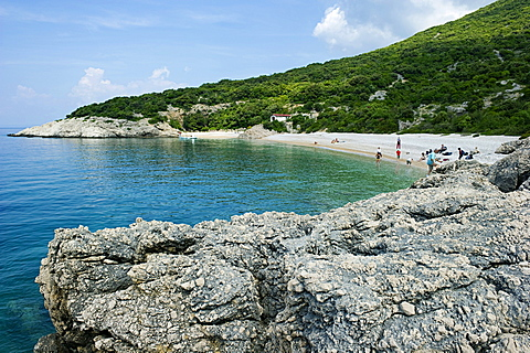 little bay, cres island, croatia