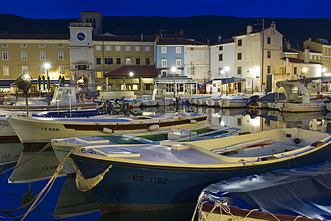 historical centre and port, cres island, croatia