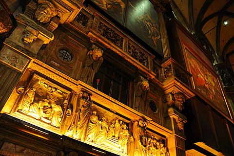 Duomo, interior, dome, Milan, Lombardy, Italy, Europe