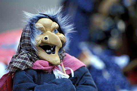 Befana's puppet, Milan, Lombardy, Italy