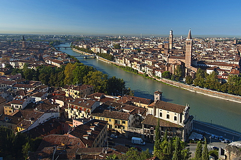 View of Verona, Veneto, Italy, Europe