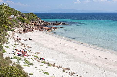 Girin beach, Carloforte, St Pietro Island, Carbonia - Iglesias district, Sardinia, Italy, Europe