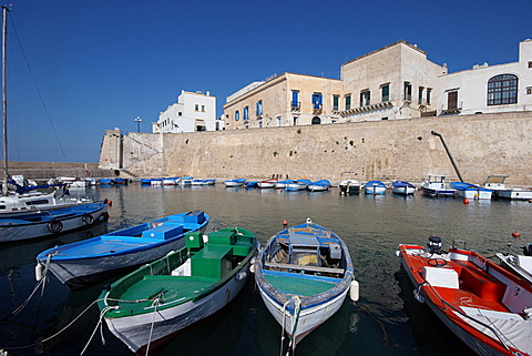 The port, Gallipoli, Salentine Peninsula, Apulia, Italy