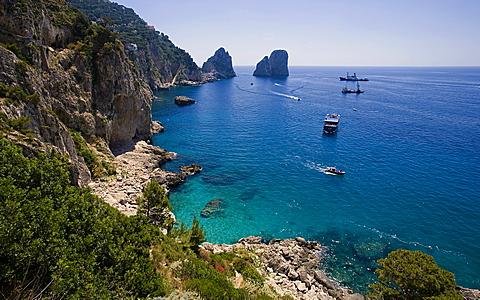 Faraglioni,Capri island,Naples,Italy,Campania,Europe.