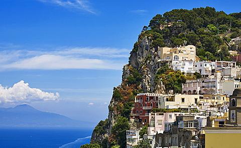 Capri houses,Capri island,Naples,Campania,Italy,Europe.