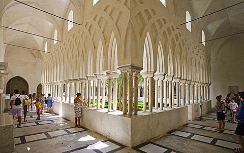Chiostro del Paradiso cloister, Amalfi, Salerno, Campania, Italy, Europe