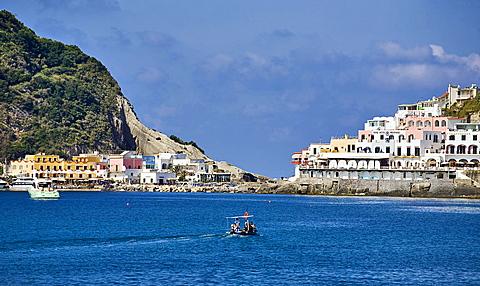 Sant'Angelo bay, Ischia island, Naples, Campania, Italy, Europe