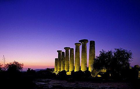 Hercules Temple, Agrigento, Sicily, Italy