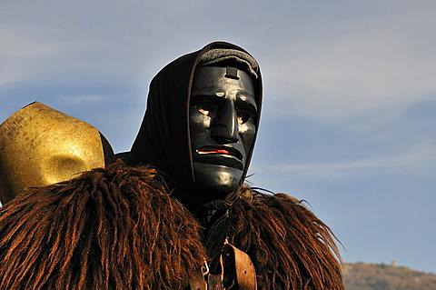 Mamoiada. Sardinia. Italy. Mamuthones mask Sardinian carnival.
