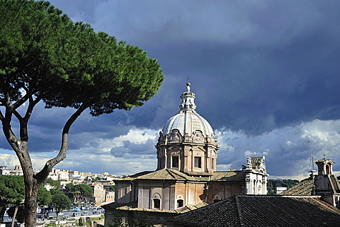 Rome. Lazio. Italy. Europe. S.S. Luca and Martina Church