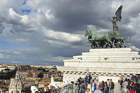 Rome. Italy. Europe. Quadriga on Vittoriano palace.