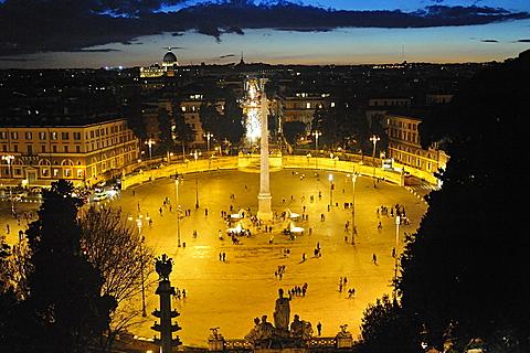 Rome. Italy. Europe. Piazza del Popolo.