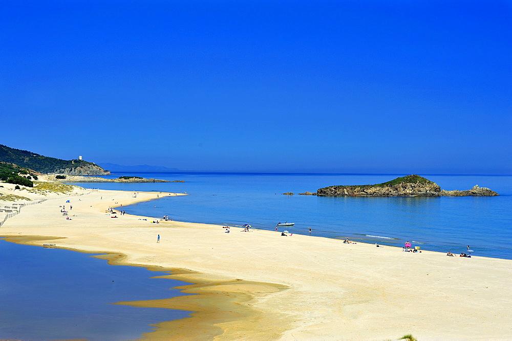 Su Giudeu beach, Chia, Domus De Maria, Sardinia, Italy