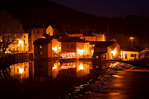 Mincio river at Borghetto sul Mincio, Lombardia, Italy, Europe