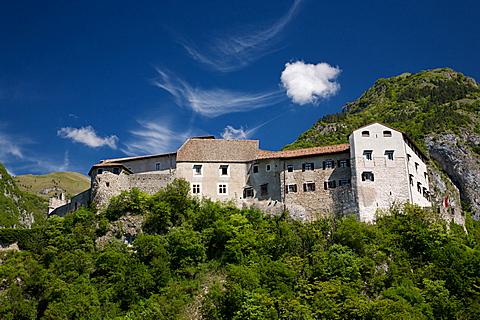 view Stenico castle, Giudicarie, Bleggio, Trentino, Italy, Europe