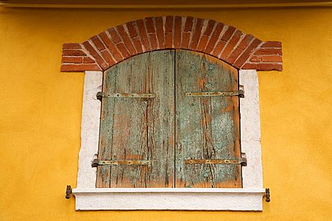 window at old town of Garda, Garda lake, Veneto, Italy, Europe