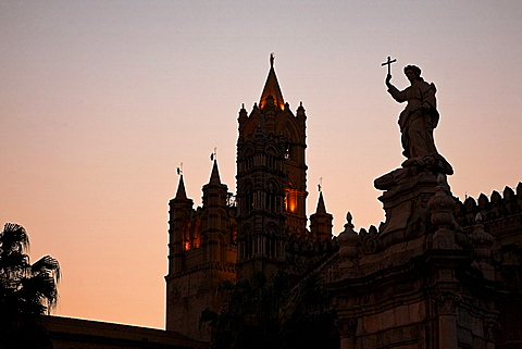 Cathedral of Palermo, Palermo, Sicily, Italy, Europe