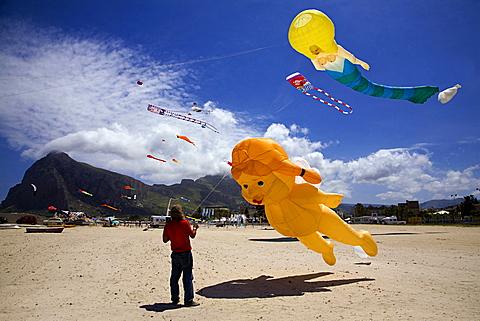 Kites festival, Trapani, Sicily, Italy, Europe