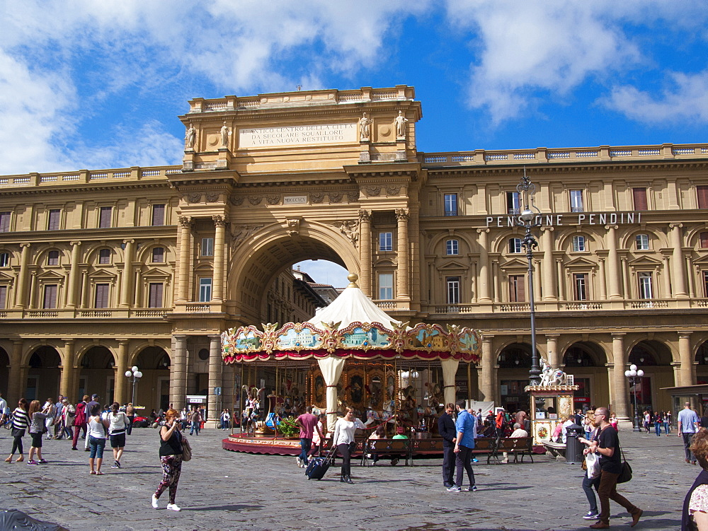 Repubblica square, Florence, Tuscany, Italy, Europe