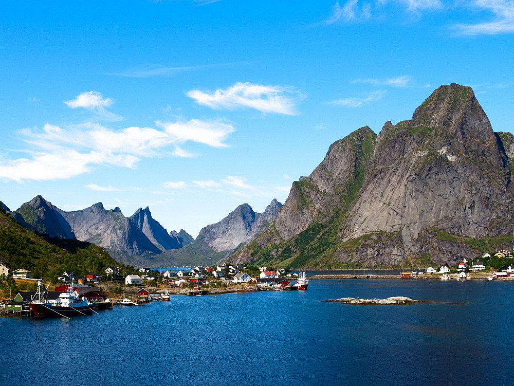 Lofoten, the fishing village of Reine, on the island of Moskenesøya, Norway, Europe