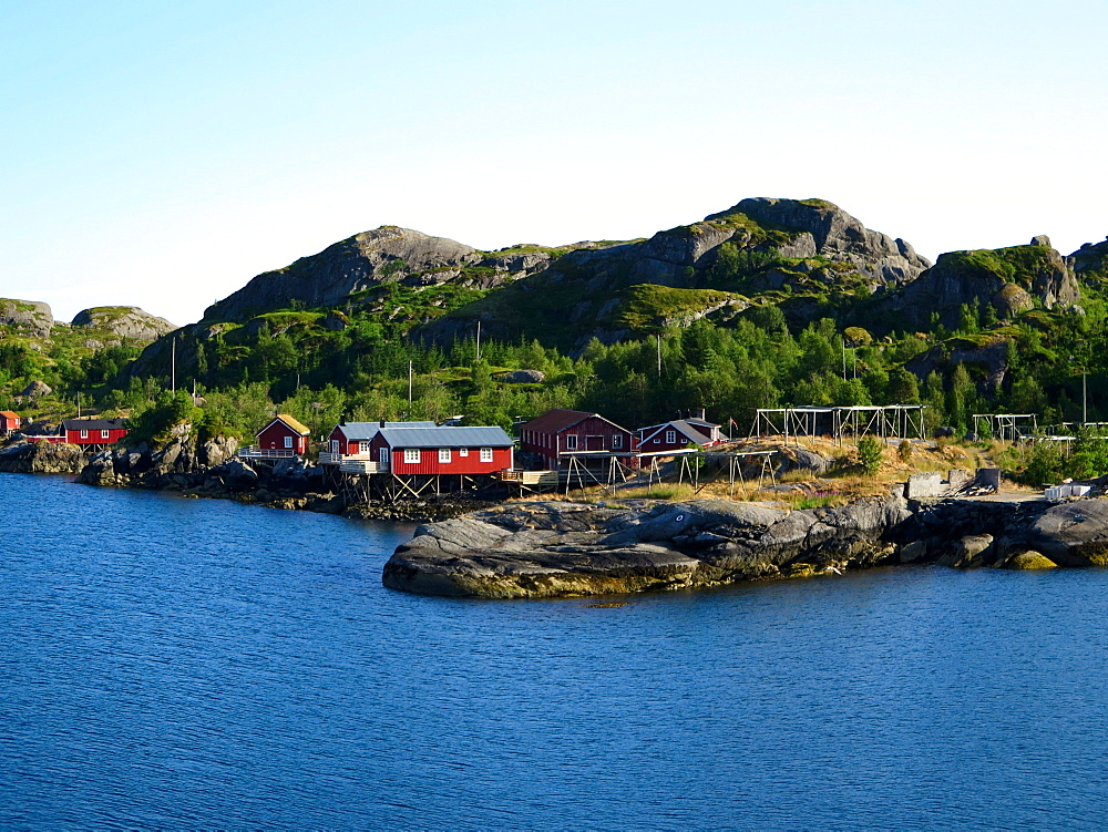 Lofoten, Nusfjord, one of Norway's oldest and best-preserved fishing hamlets, Norway, Europe