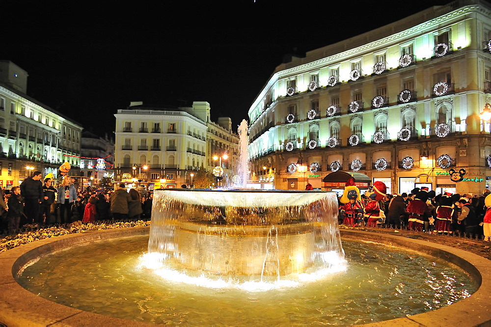 Christmas inPuerta del Sol, Madrid, Spain, Europe