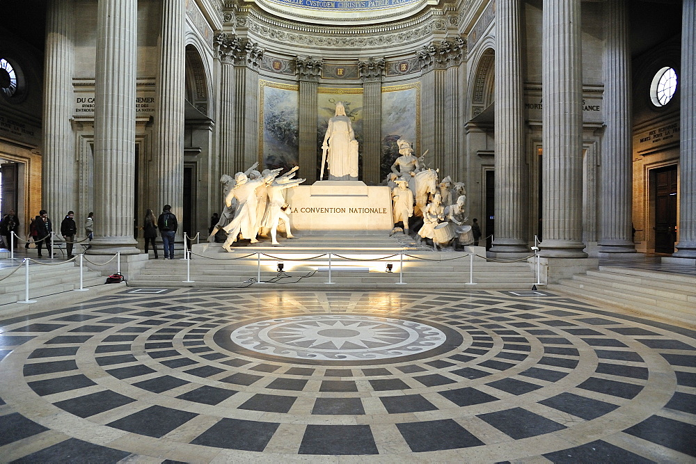 Convention nationale monument inside the Pantheon, Paris, France, Europe