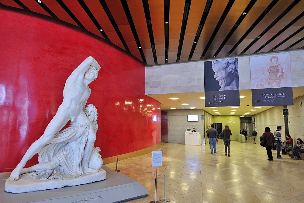 Museo Del Prado entrance, Madrid, Spain, Europe