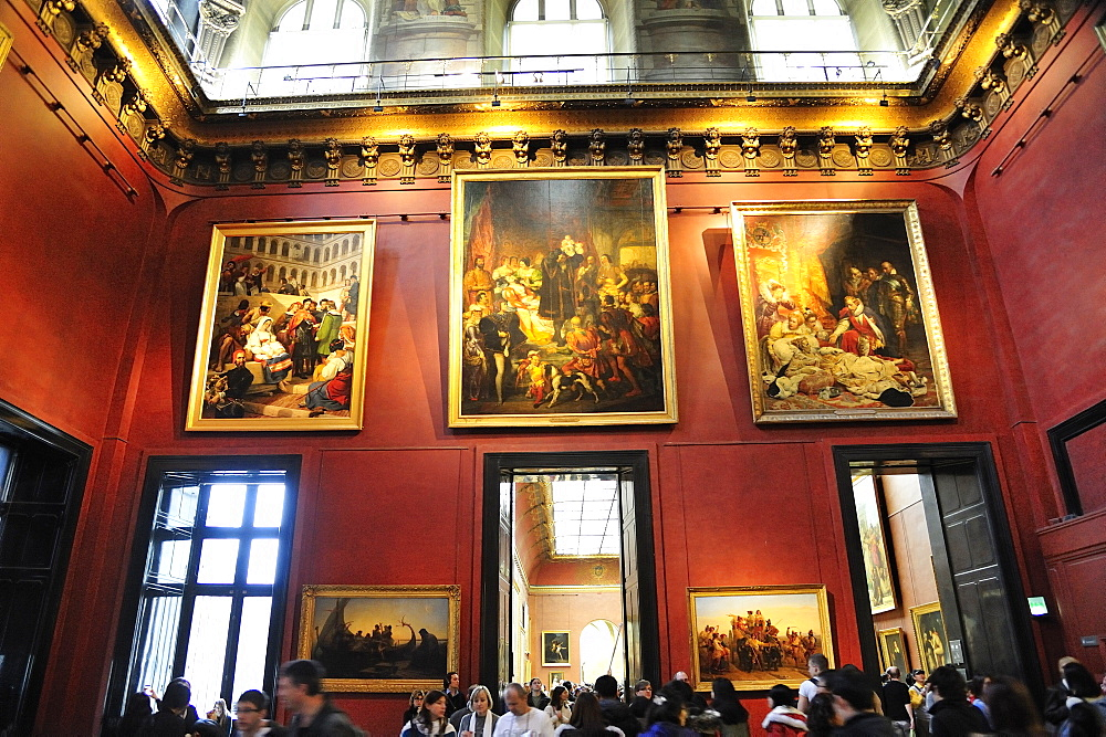 Louvre Museum, Musee du Louvre, internal view paintings, Paris, France, Europe