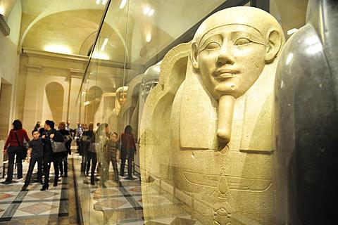 Louvre Museum, Musee du Louvre, Egyptian art, Sarcophagi, Paris, France, Europe