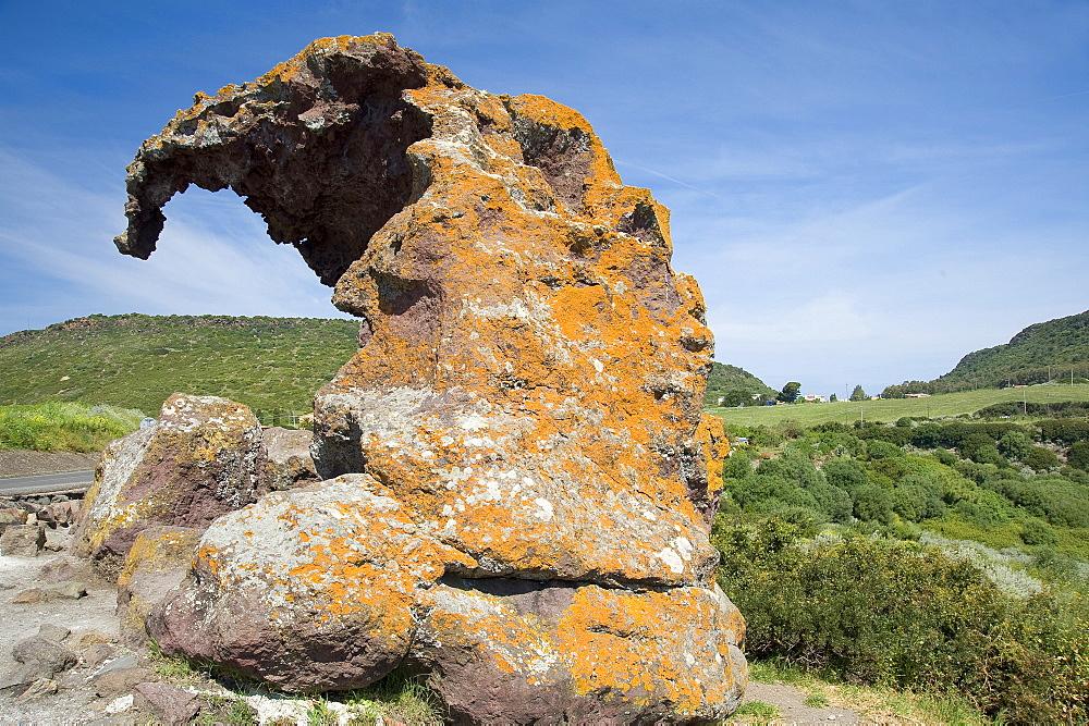 Roccia dell'Elefante (Elephant Rock), Castelsardo, Sardinia, Italy, Europe
