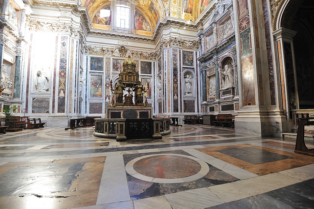Santa Maria Maggiore church and crypt, Rome, Italy, Europe