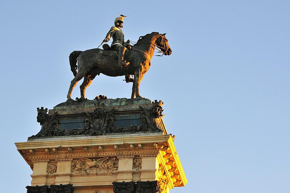 Monument to Alfonso XII statue, Buen Retiro Park, Madrid, Spain, Europe