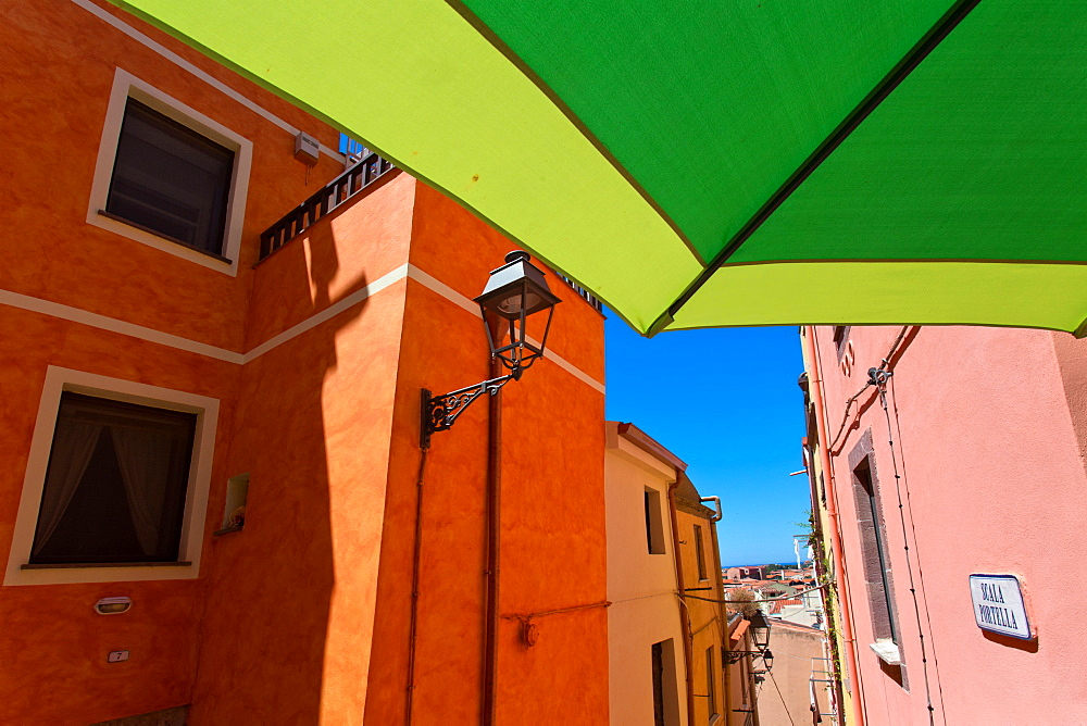 Historic centre, Bosa village, Sardinia, Italy, Europe