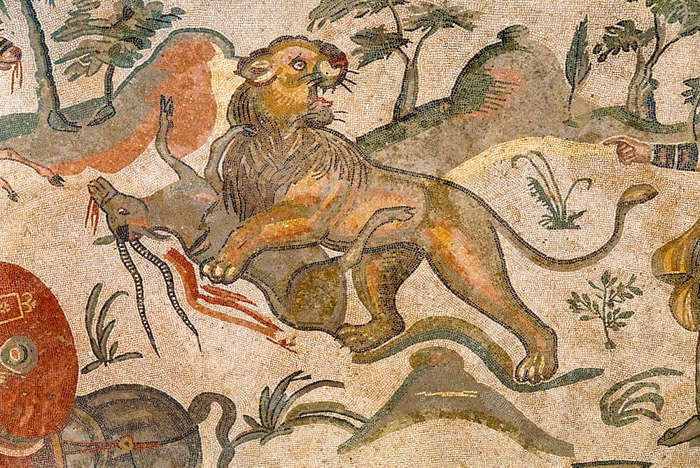 Mosaics, Villa del Casale, Piazza Armerina, Sicily, Italy, Europe