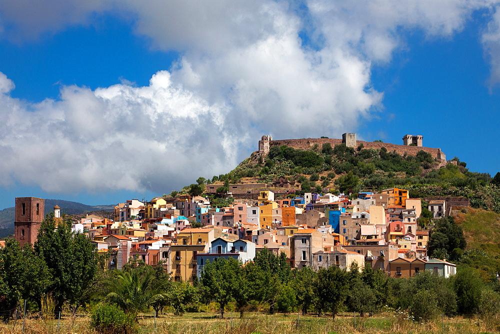 Bosa village, cityscape, Sardinia, Italy, Europe