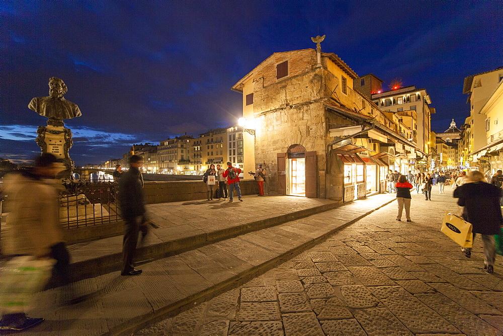 Ponte Vecchio bridge, Florence, Tuscany, Italy, Europe