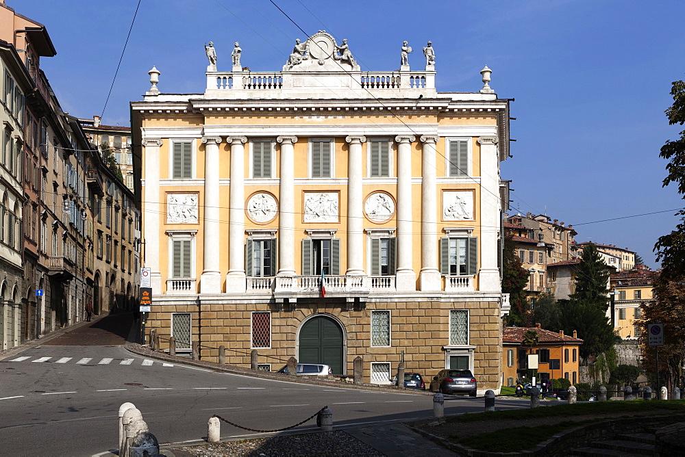 Historical centre, Bergamo Alta, Bergamo, Lombardy, Italy, Europe