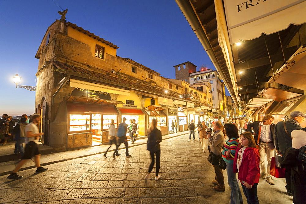 Ponte Vecchio bridge, Florence,Tuscany, Italy, Europe