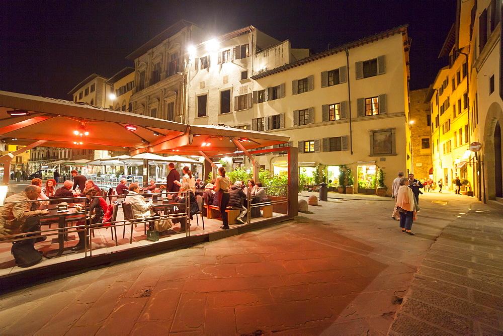 Restaurant in Piazza della Signoria square, Florence, Tuscany, Italy, Europe