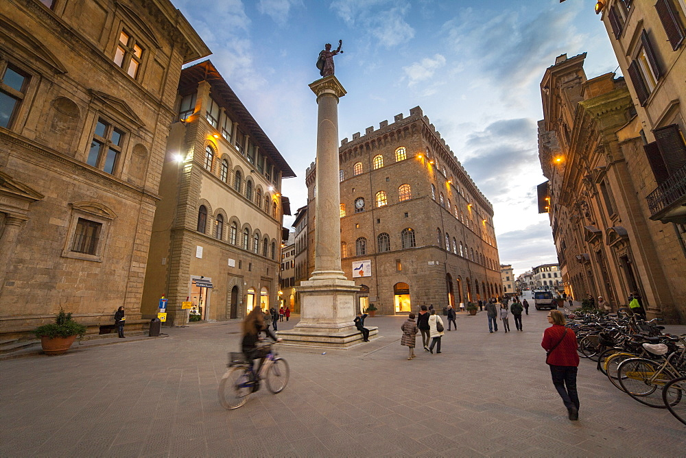 Santa Trinita square and Ferragamo palace,  Florence, Tuscany, Italy, Europe