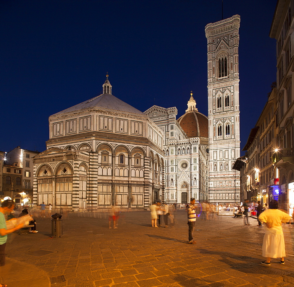 Baptistere and Cathedral, Florence, Tuscany, Italy, Europe